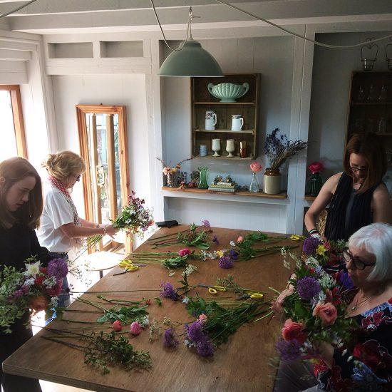 Flower arranging workshop at The Flower Patch Measham