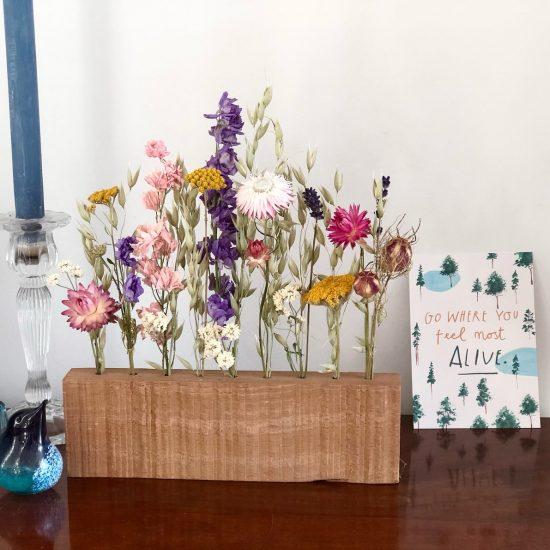 DIY Dried Flower wooden block Display set