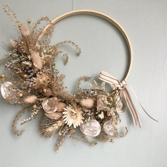 Dried flower hoop wreath kit