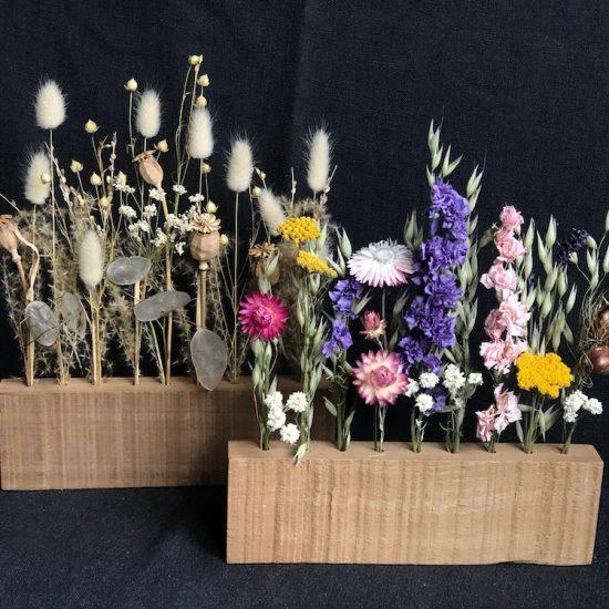 Wooden block dried flower display DIY set